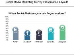 Social Media Marketing Survey Presentation Layouts
