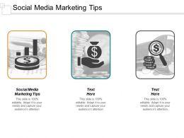 Social Media Marketing Tips Ppt Powerpoint Presentation Inspiration Design Inspiration Cpb