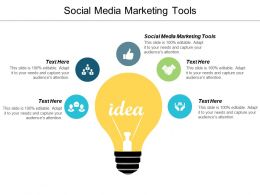 Social Media Marketing Tools Ppt Powerpoint Presentation Icon Design Inspiration Cpb