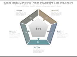 Social Media Marketing Trends Powerpoint Slide Influencers