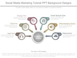 Social Media Marketing Tutorial Ppt Background Designs