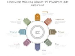 Social Media Marketing Webinar Ppt Powerpoint Slide Background