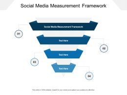 Social Media Measurement Framework Ppt Powerpoint Presentation Portrait Cpb