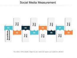 Social Media Measurement Ppt Powerpoint Presentation Gallery Diagrams Cpb