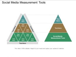 Social Media Measurement Tools Ppt Powerpoint Presentation Summary Graphics Pictures Cpb