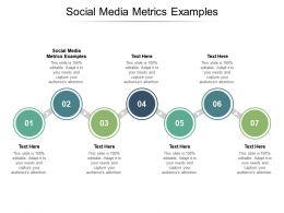 Social Media Metrics Examples Ppt Powerpoint Presentation Infographics Icons Cpb