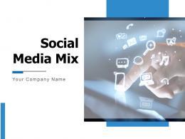 Social Media Mix Powerpoint Presentation Slides