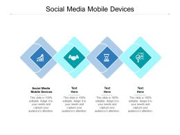 Social Media Mobile Devices Ppt Powerpoint Presentation Design Templates Cpb