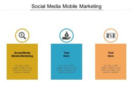 Social Media Mobile Marketing Ppt Powerpoint Presentation Professional Cpb