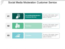 Social Media Moderation Customer Service Ppt Powerpoint Presentation Styles Influencers Cpb