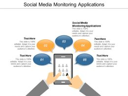 Social Media Monitoring Applications Ppt Powerpoint Presentation Model Background Image Cpb