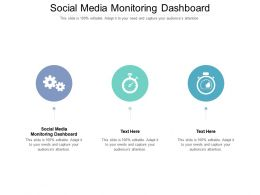 Social Media Monitoring Dashboard Ppt Powerpoint Presentation Layouts Design Templates Cpb