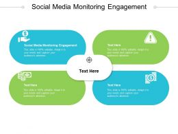 Social Media Monitoring Engagement Ppt Powerpoint Presentation Inspiration Clipart Cpb