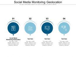 Social Media Monitoring Geolocation Ppt Powerpoint Slides Vector Cpb