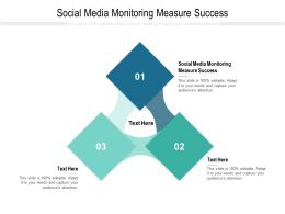Social Media Monitoring Measure Success Ppt Powerpoint Presentation Gallery Pictures Cpb