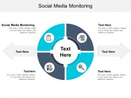 Social Media Monitoring Ppt Powerpoint Presentation Gallery Example Topics Cpb