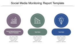 Social Media Monitoring Report Template Ppt Powerpoint Presentation Ideas Designs Download Cpb