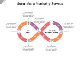 Social Media Monitoring Services Ppt Powerpoint Presentation Model Inspiration Cpb
