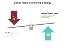 Social Media Monitoring Strategy Ppt Powerpoint Presentation Model Designs Download Cpb