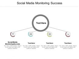 Social Media Monitoring Success Ppt Powerpoint Presentation Outline Show Cpb