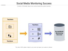 Social Media Monitoring Success Ppt Powerpoint Presentation Styles Professional Cpb