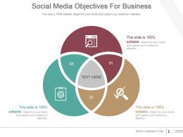 Social Media Objectives For Business Powerpoint Slide Rules