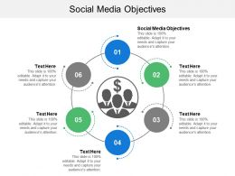 Social Media Objectives Ppt Powerpoint Presentation Gallery Example Cpb