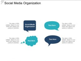 Social Media Organization Ppt Powerpoint Presentation Gallery Gridlines Cpb