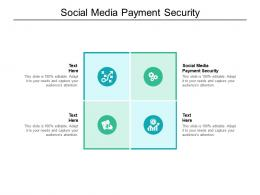 Social Media Payment Security Ppt Powerpoint Presentation Icon Picture Cpb