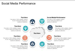 Social Media Performance Ppt Powerpoint Presentation Gallery Layout Ideas Cpb