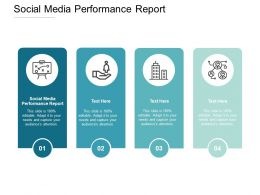 Social Media Performance Report Ppt Powerpoint Presentation Model Image Cpb