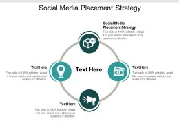 Social Media Placement Strategy Ppt Powerpoint Presentation File Outline Cpb