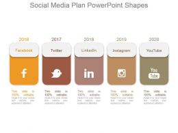 Social Media Plan Powerpoint Shapes