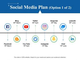 Social Media Plan Powerpoint Slide Background Designs