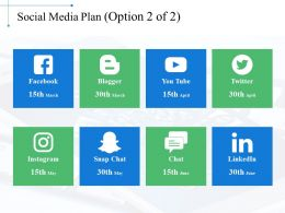 Social Media Plan Ppt Background Images