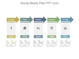 Social Media Plan Ppt Icon