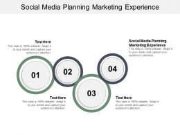Social Media Planning Marketing Experience Ppt Powerpoint Presentation Styles Background Image Cpb