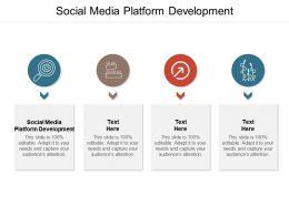 Social Media Platform Development Ppt Powerpoint Presentation Professional Infographics Cpb