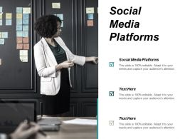 Social Media Platforms Ppt Powerpoint Presentation Show Design Inspiration Cpb