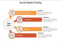 Social Media Posting Ppt Powerpoint Presentation Pictures Gridlines Cpb
