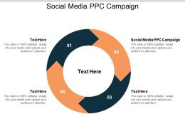 Social Media PPC Campaign Ppt Powerpoint Presentation File Master Slide Cpb