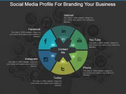 Social Media Profile For Branding Your Business Ppt Slide