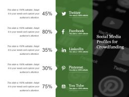 Social Media Profiles For Crowdfunding Powerpoint Layout