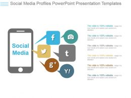 Social Media Profiles Powerpoint Presentation Templates