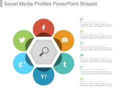 Social Media Profiles Powerpoint Shapes