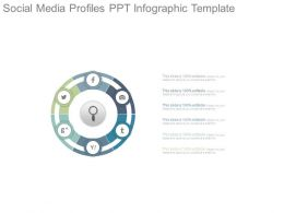 Social Media Profiles Ppt Infographic Template