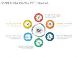 Social Media Profiles Ppt Samples