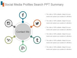 Social Media Profiles Search Ppt Summary