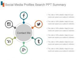 Social Media Profiles Search Ppt Summary
