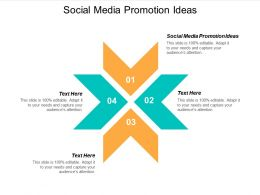 Social Media Promotion Ideas Ppt Powerpoint Presentation Pictures Icon Cpb